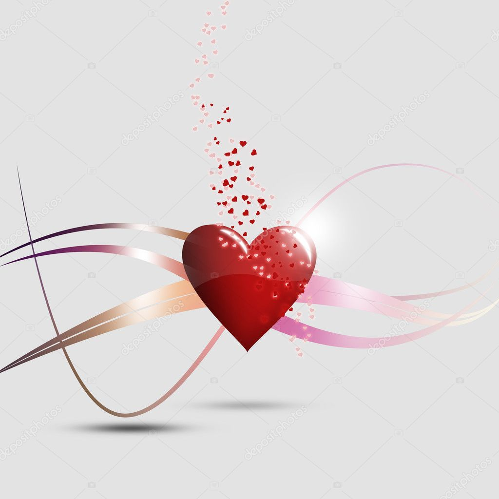 Illustration of a heartand lines, reaning hearts  Stock Photo #8627556