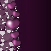 Purple hearts for valentines day — Stock Photo