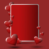 Red valentines card — Stock Photo