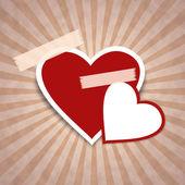 Hearts on peaper — Stock Photo
