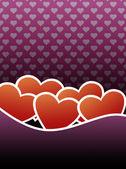 Pink valentine card — Stock Photo