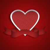 Red heart, banner — Stock Photo