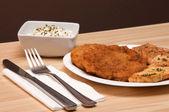 Breaded chicken — Stock Photo
