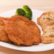 Breaded chicken fillet — Stock Photo