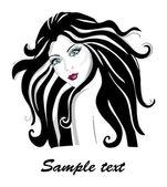 Fashion girl vector illustration — Stock Vector
