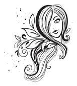 Girl icon — Stock Vector
