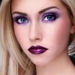 Violet makeup — Stock Photo