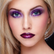 Stock Photo: Violet make-up