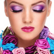 Violet make-up — Stok fotoğraf