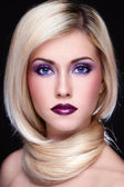 Violet makeup — Stock Photo