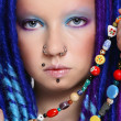 Stock Photo: Blue dreads