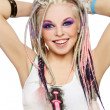 Stock Photo: Girl with dreads