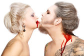 Tender vampires — Stock Photo