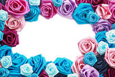 Valentines frame of blue, vinous, pink and turquois — Stock Photo