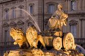 Cibeles Fountain in Madrid, Spain — Stock Photo