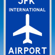 JFK Airport Sign — Stock Photo