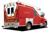 Ambulance Fire Rescue Truck — Stock Photo