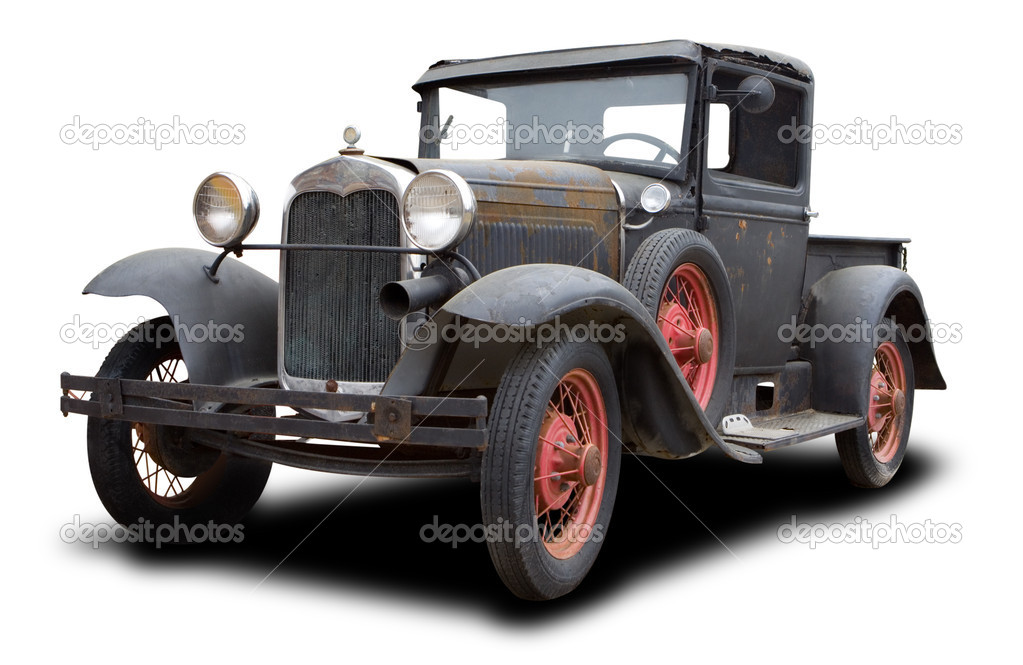 1930 Old Rusted Truck Isolated on White — Stock Photo #8687997
