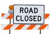 Road Close Sign — Stock Photo