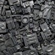 Royalty-Free Stock Photo: Metal Letterpress Type Background