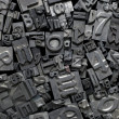 Metal Letterpress Type Background — Stock Photo