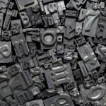 Metal Letterpress Type Background — Stock Photo