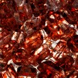 Close Up Blood Stained Red Ice — Stock Photo