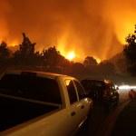 Neighborhood On Fire At Night — Stock Photo #8655735