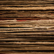 Close up of Stacked Old Vinyl LP Covers — Stock Photo #8656238