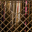 Old Weathered Stacked Vinyl LP Covers in Milk Crate — Stock Photo #8656262