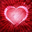 Grunge Heart Lightrays Background - Stock Photo