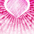 Pink Love Heart Light Rays Background - Stock Photo