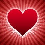 Big Heart Grunge Valentine Card — Stock Photo