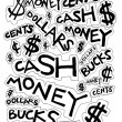 Stock Photo: Cash Money Dollars Bucks and Cents Drawing