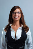Business Woman in glasses Smiling — Stock Photo