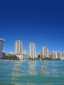 Shoreline Hotels of Waikiki, Hawaii — Stock Photo