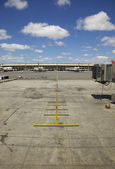 Empty Airplane Terminal Daytime — Stock Photo