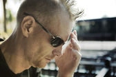 Man with Headache and Mohawk — ストック写真