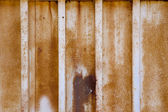 Close up of Rusted White Gate — Stock Photo