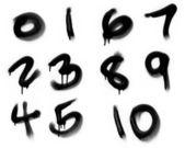Graffiti Spray Painted Numerics — Stock Photo