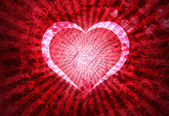 Grunge Heart Lightrays Background — Stock Photo