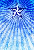 Propaganda Star Blue Light Rays Background — Stock Photo