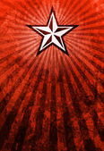 Propaganda Star Red Light Rays Background — Stock Photo