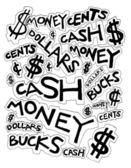 Cash Money Dollars Bucks and Cents Drawing — Stock Photo