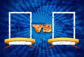 Blue Fight Night Versus Title Card — Stock Photo