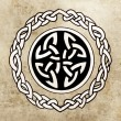 Celtic shield. Sketch of tattoo art, ornament design — Stock Photo