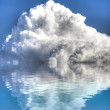 Storm with water reflection. A sky of clouds reflected in a calm — Stock Photo #10112381