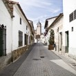 Town of white houses, typical Spanish architecture — Stock Photo