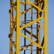 Yellow crane, tower — Stock Photo