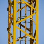 Yellow crane, tower — Stock Photo